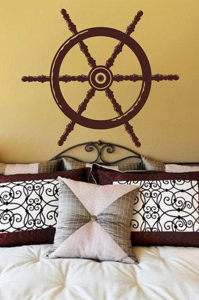 Nautical Ships Wheel Vinyl Wall Decal 22093