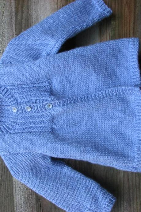 Baby blue cardigan/coat