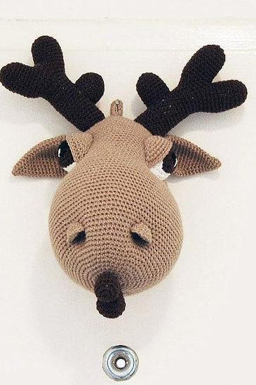 Hogar the Moose - Amigurumi Moose Crochet Pattern - Crochet Wall Decor - Faux Taxidermy