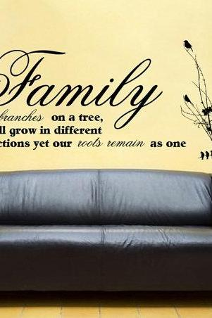 Family Branches Vinyl Wall Decal 22164