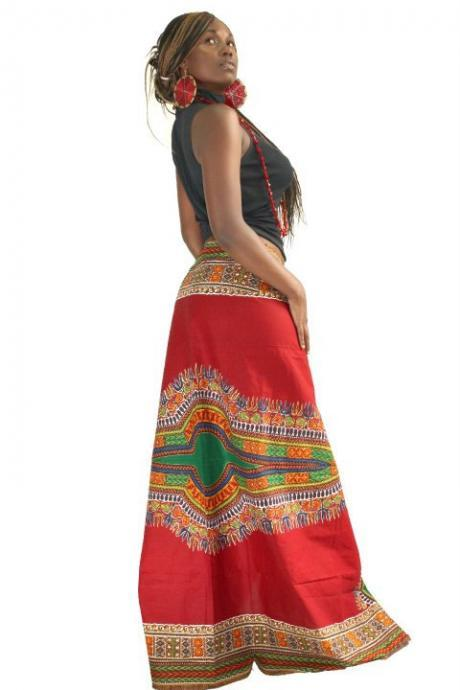 Comoros - Gorgeous costumisable dashiki african maxi skirt