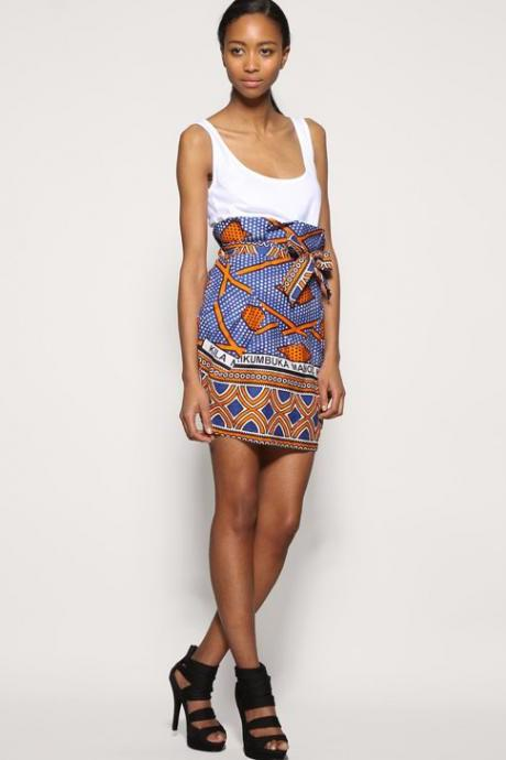 Chad - Gorgeous costumisable dashiki african skirt