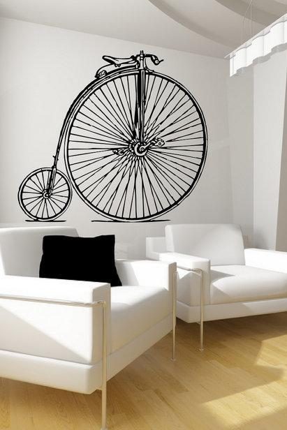 Wall Decal Antique Bicycle Large Vinyl Wall Decal Graphic 22086
