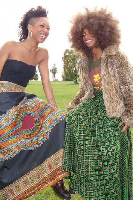 Sudan - Gorgeous costumisable dashiki african maxi skirt