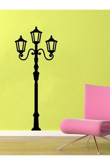 Wall Decal Lamp Light Post Tall Vinyl Wall Decal 22115