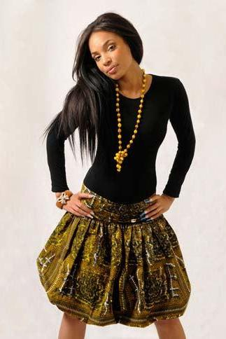 Lesotho - Gorgeous costumisable dashiki african skirt