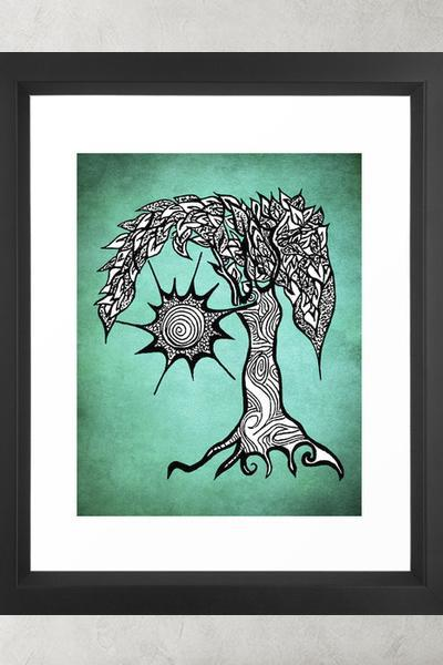 Printable Wall Art Poster DIY - Mystic Tree