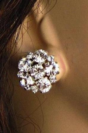 "Wedding Earrings, stud Earrings, ""Brilliant Sparkle"""