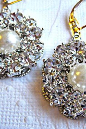 Wedding Earrings,Pearl, Bridal Earrings