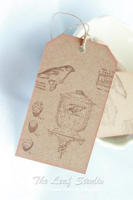 Aviary Kraft Tags (set of 5) by The Leaf Studio. FREE shipping
