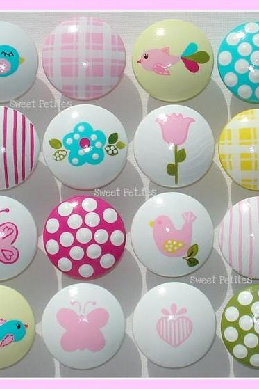 Sweet Petites Boutique Hand Painted Drawer Knob or Nail Cover Cheerful Fun