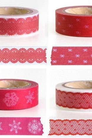 New Pink lace washi masking tape