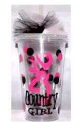 16oz. Browning Country Girl Clear Tumbler