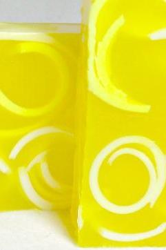Lemon Sugar Swirly Curly Soap