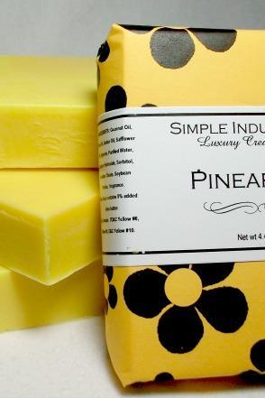 Pineapple Simple Indulgence Handmade Soap, Shea enriched