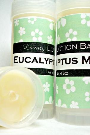 Eucalyptus Mint Solid Lotion bar, Eucalyptus plus spearmint
