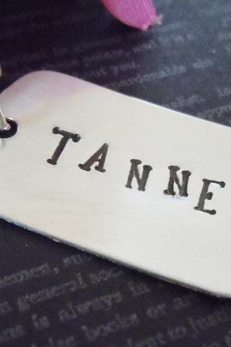 Dog Tag-Personalized Necklace-Hand Stamped Jewelry-Custom Necklace