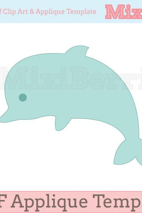Applique Template Dolphin PDF