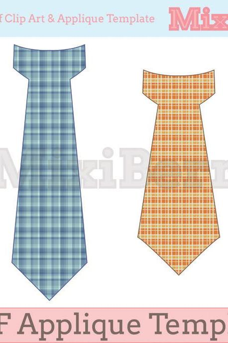 PDF Applique Template Tie - 2 Designs in One