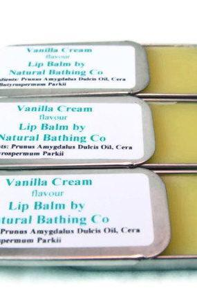 Natural Lip Balm Vanilla Cream Tin Flavored 0.5oz Lip Butter