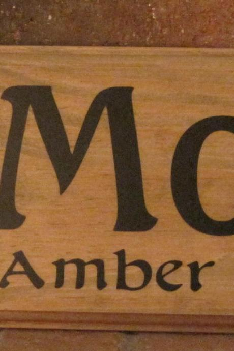 Personalized Family Name Sign Wedding Last Name Custom Wood Plaque Christmas Gift Home Decor