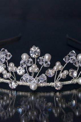 Crystals Tiara - Bridal Tiaras from the UK, Handmade by Kerrie G