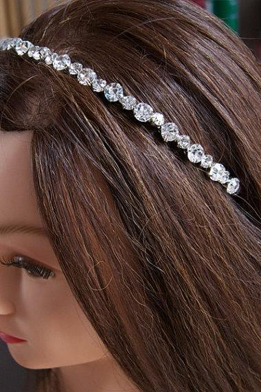 Diamante Wedding Headband, Bridal Headbands - Diamantes Rhinestones