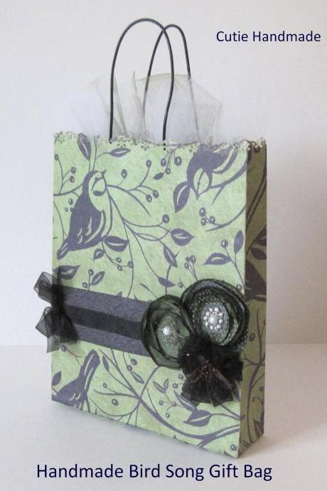 Handmade Bird Song Gift Bag