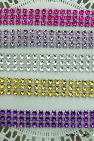 Five yards - Faux Rhinestone Trim (many colors available)