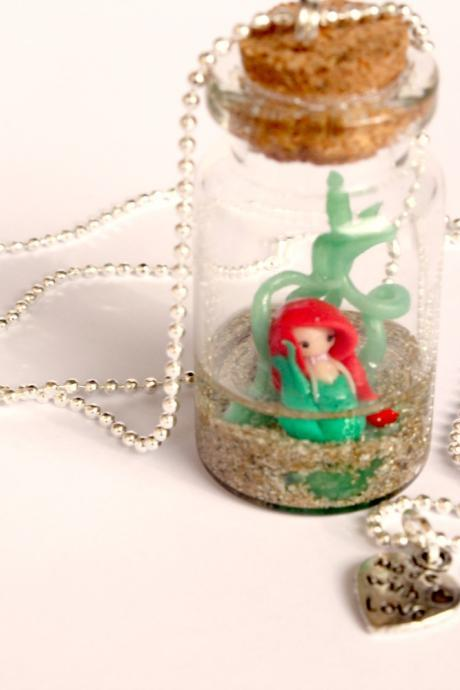 Ariel in bottle... necklace