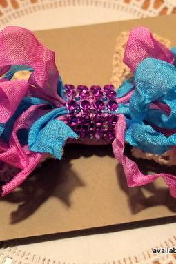 Ribbon and Lace Baby Headband - Custom colors available