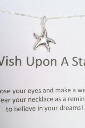 CHRISTMAS SALE Wish Upon a Star Necklace, Sterling Silver Necklace, Minimal Jewelry
