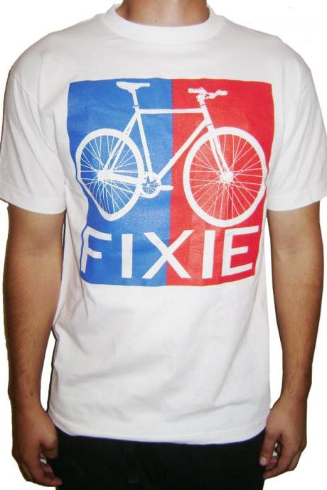 Fixie Bike T-Shirt Fixed Gear Bicycle Free Shipping