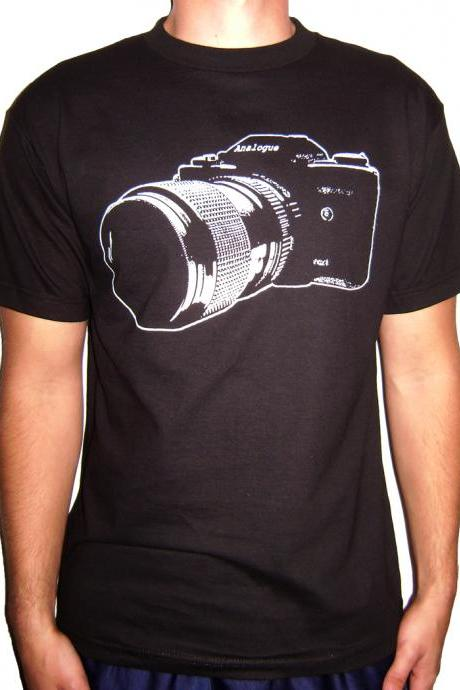 Vintage SLR 35mm Camera Shirt Free Shipping