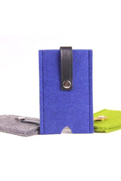 Felt iPhone Case - Blue
