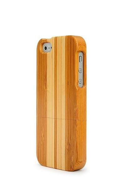 IPHONE 5 Carbonized Bamboo with Bai Zhu Wood case