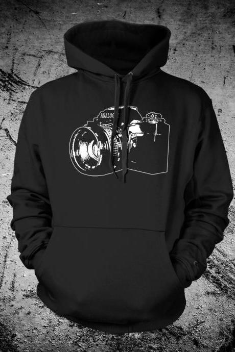 Vintage SLR Camera Hooded Sweat Shirt Hoodie