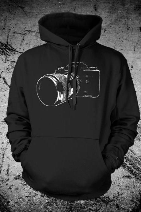 Vintage SLR 35mm Camera Hooded Sweat Shirt Hoodie
