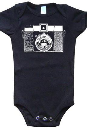 Diana Camera Onesie Vintage One Piece Romper Suit Lomography Sz 3 to 18 months FREE SHIP