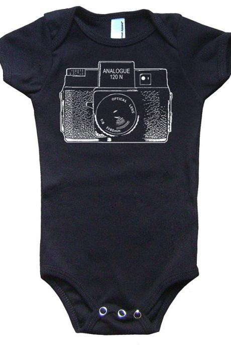 Holga Camera Onesie Vintage One Piece Romper Suit Lomography Sz 3 to 18 months FREE SHIP