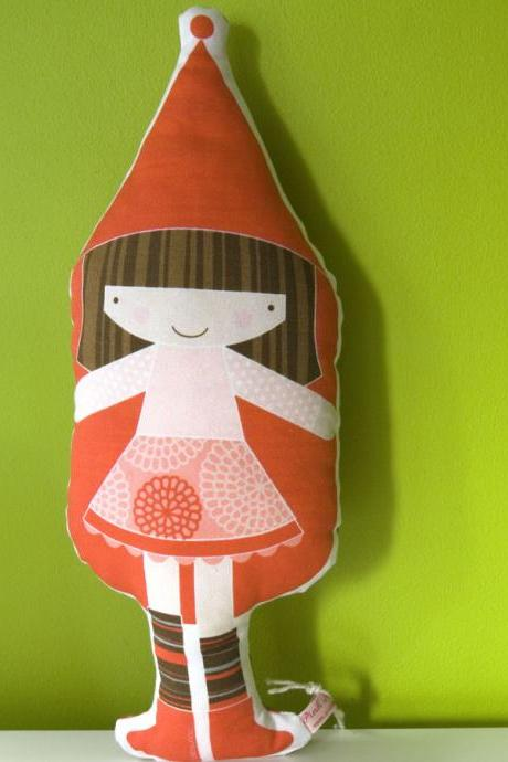 printed soft toy - Little Red Riding Hood