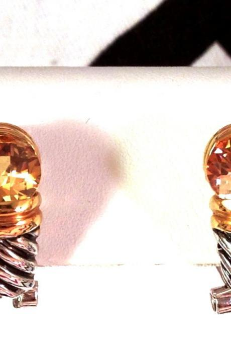 David Yurman Inspired Cable Twist Citrine Earrings