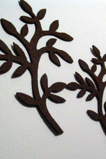 L101 - Two Branch on brown felt