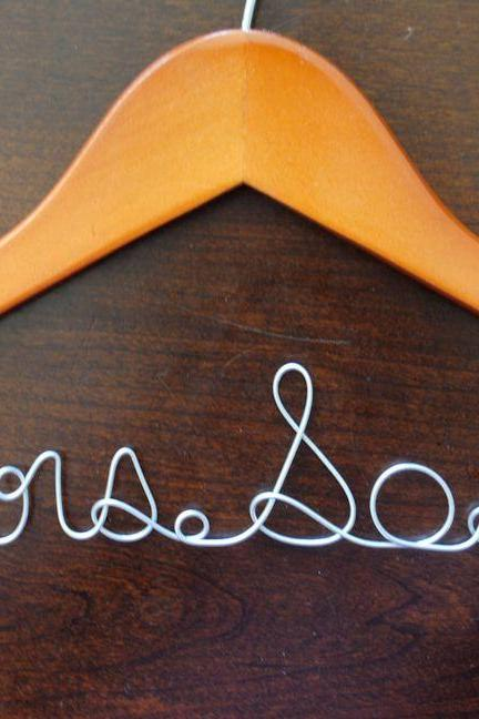 Cyber Week Sale Personalized Wedding Dress Hanger Brides Hanger Bridesmaid Hanger