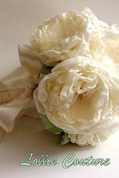 Wedding Bouquet set - Bridal bouquets - fabric Bouquets