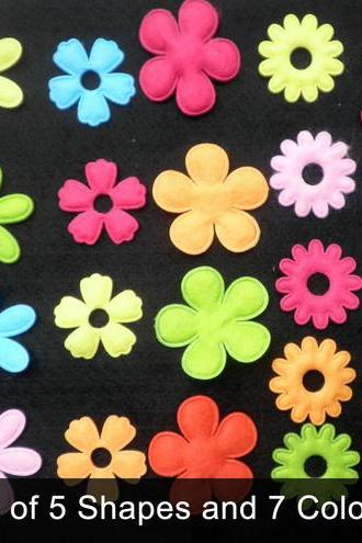 25x Multi Pack Felt Flower Shapes