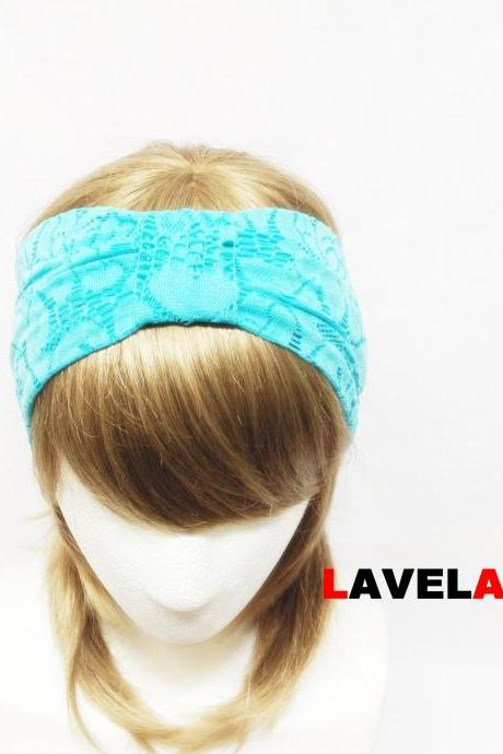 Light Blue Flower Lace-headband