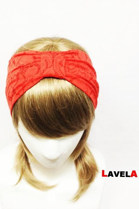 Red Flower Lace-headband