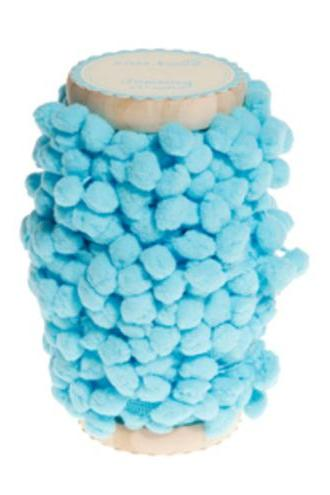 3meters of AQUA BLUE Pom Pom Ribbon Trim