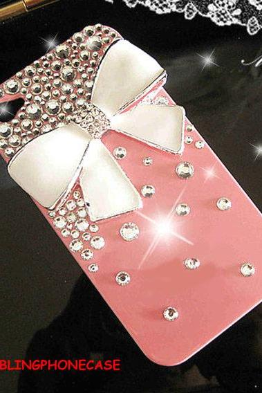 iphone case, iphone 4 case, iphone 4s case, iPhone 4 bow Case, bling iPhone 4 case, Pink iPhone 4 Case, Crystal iphone 4G cover